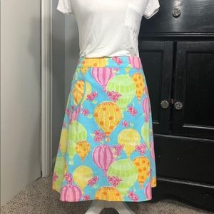 *Rare* Lilly Pulitzer Hot Air Balloon Race Skirt